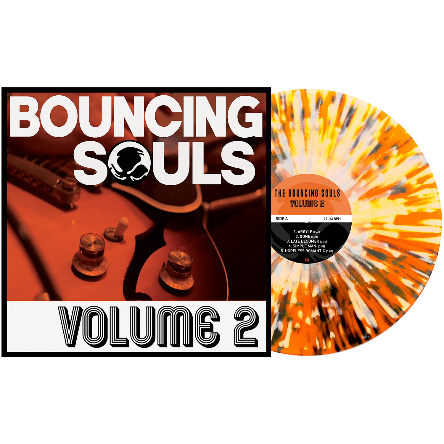 The Bouncing Souls 'Volume 2' - Various LP Orange Crush w/ Black & White Splatter