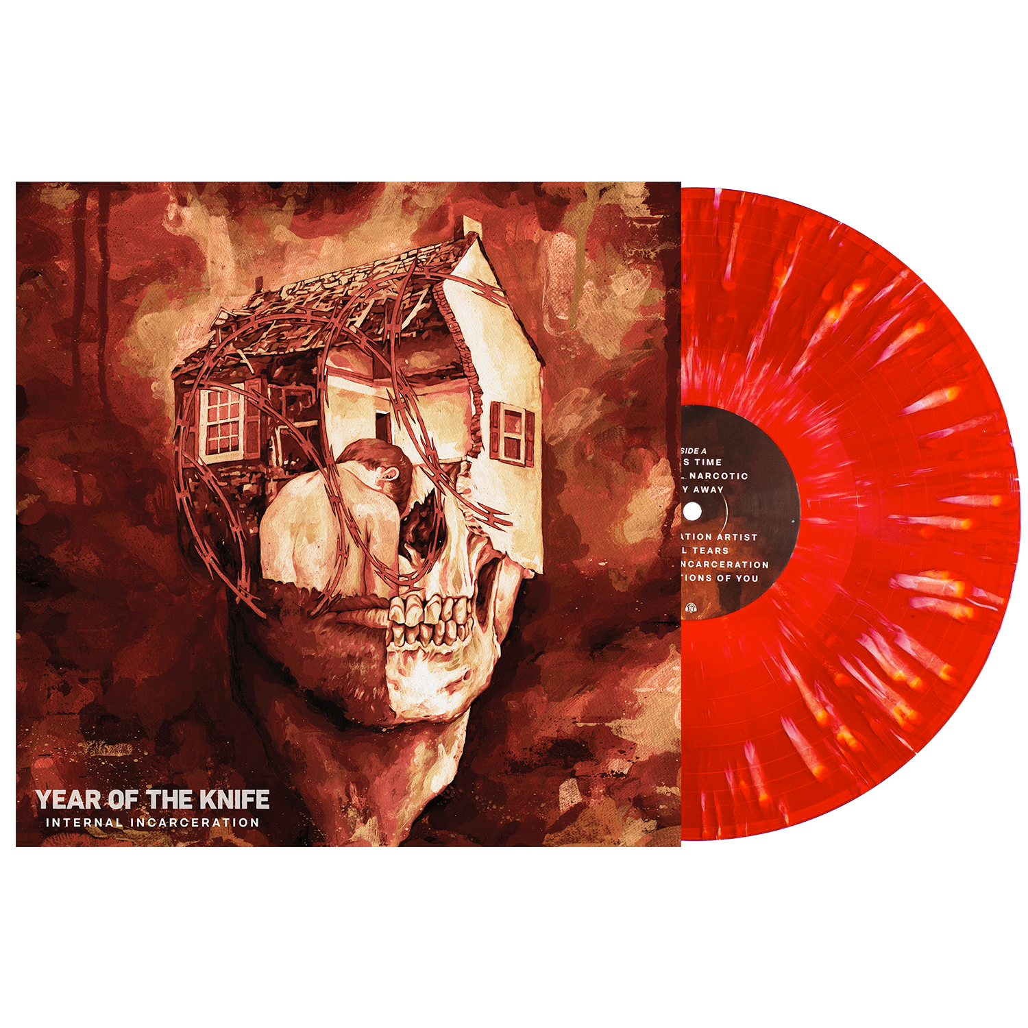 Year of the Knife 'Internal Incarceration' LP (Various - Bone in Blood Red w/ heavy Bone splatter)
