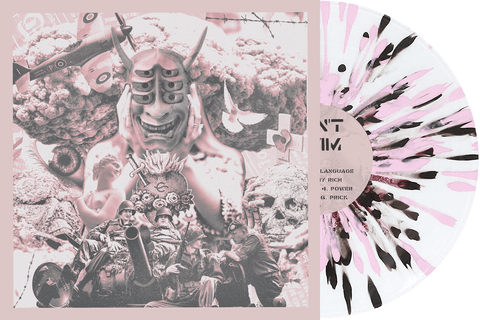 Can't Swim 'Foreign Language' Various 1 - Clear w/ Baby Pink & black splatter