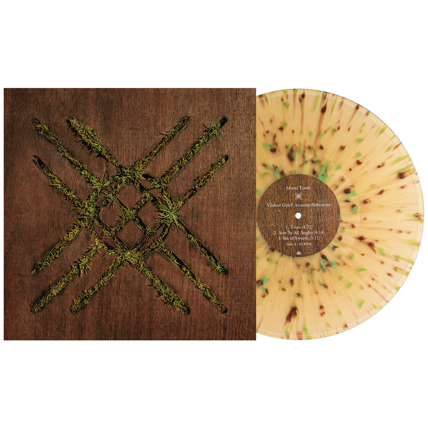 Moon Tooth 'Violent Grief: Acoustic Selections' LP (Various - Beer w/ Heavy Brown & Olive Splatter)