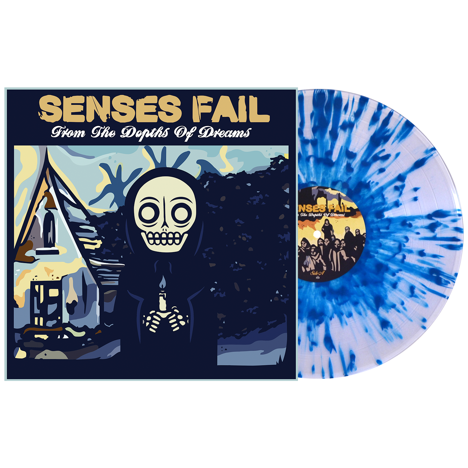 Senses Fail 'From The Depths of Dreams' Various 1 LP Clear w/ Heavy Aqua Blue Splatter