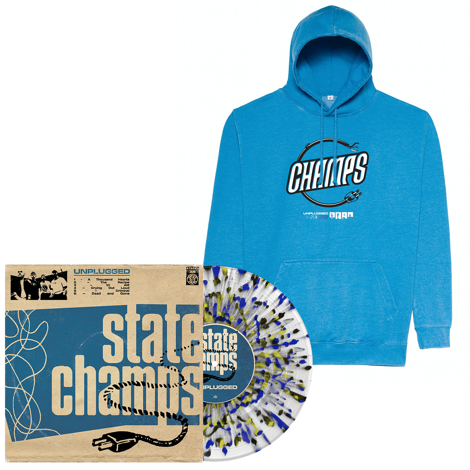 State Champs 'Unplugged' LP (Various) + Hoodie