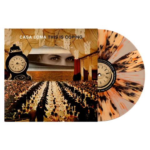 Casa Loma 'This Is Coping' - PN Webstore Exclusive - Beer & Bone Pinwheel w/ Black and Orange Splatter