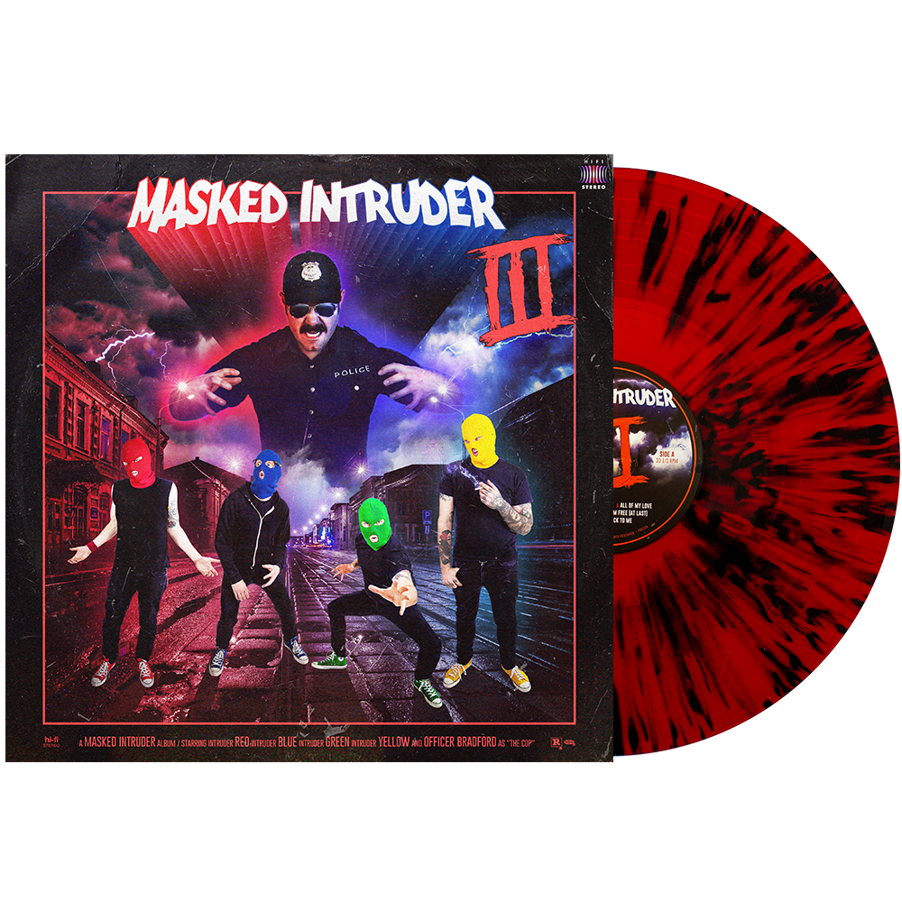 Masked Intruder 'III' LP (Blood Red w/ Heavy Black Splatter)