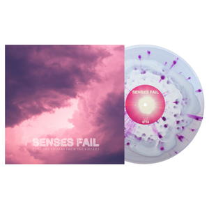 Senses Fail - Pull The Thorns From Your Heart White in Clear w/ heavy Purple Splatter