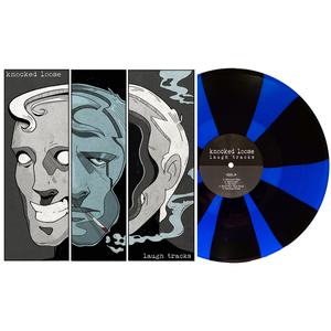 Knocked Loose 'Laugh Tracks' 7th pressing LP - Royal Blue & Black Pinwheel