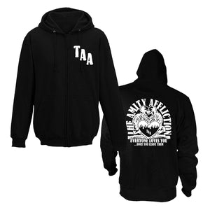 The Amity Affliction 'Everyone Loves You... Once You Leave Them' Zip Up Hoodie (black)
