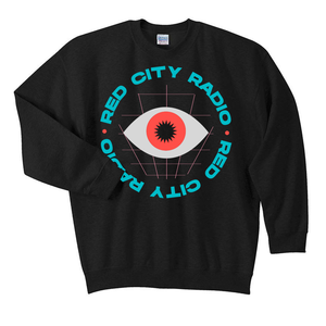Red City Radio Paradise Black Crewneck