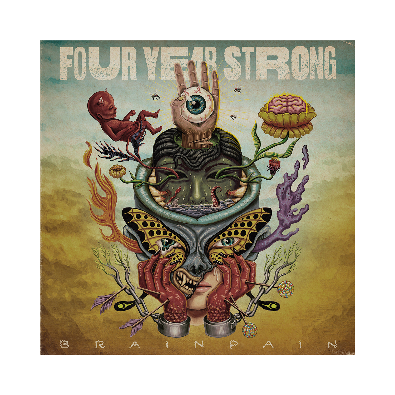 Four Year Strong 'Brain Pain' Sticker
