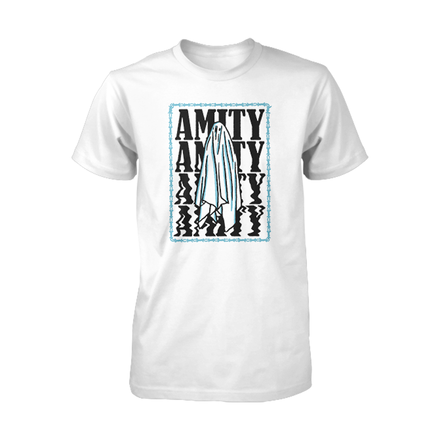 The Amity Affliction 'Everyone Loves You... Once You Leave Them' Ghost T-Shirt (white)