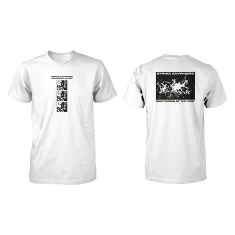 Strike Anywhere 'Nightmares of the West' White T-Shirt
