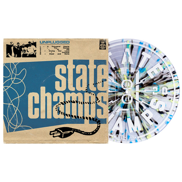 State Champs 'Unplugged' LP (Various - Clear w/ Heavy Cyan Blue, Black and Easter Yellow Splatter)