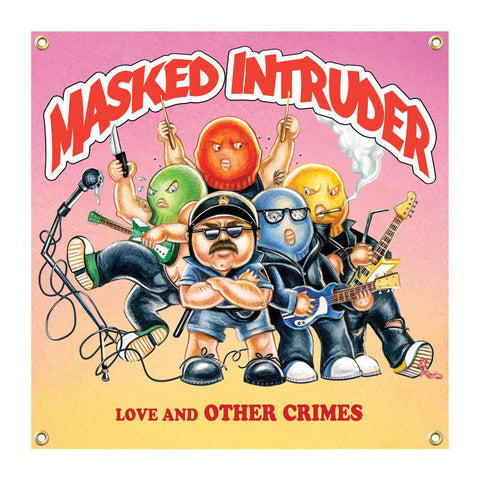 Masked Intruder 'Love and Other Crimes' Wall Flag