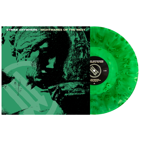 Strike Anywhere 'Nightmares of the West' LP 2nd Press - Kelly Green Cloudy