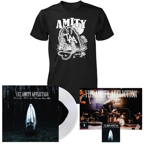 The Amity Affliction 'Everyone Loves You... When You Leave Them' VAR1 LP + Gravestone T-Shirt (black) Bundle