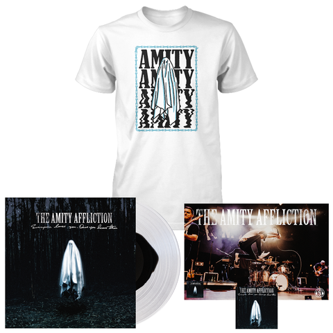 The Amity Affliction 'Everyone Loves You... When You Leave Them' VAR1 LP + Ghost T-Shirt (white) Bundle