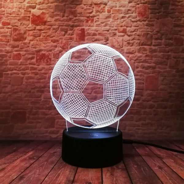 3D Illusion Soccer Lamp - Dealniche