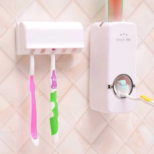 Automatic Toothpaste Dispenser + 5 Toothbrush Holder - Dealniche