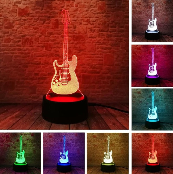 3D Illusion Guitar Lamp - Dealniche