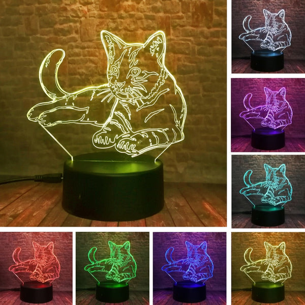 3D Illusion Cat Lamp - Dealniche
