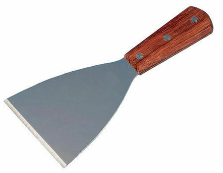 Chef Inox Scraper-Grill With Wood Handle - 21x10cm
