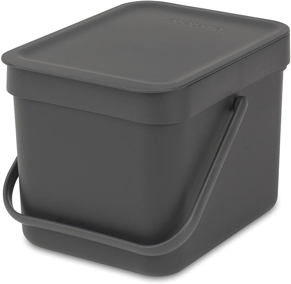 Brabantia Waste Bin Sort & Go 6L - Grey