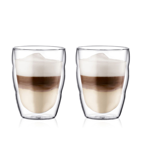 Bodum Pilatus 2 Piece Double Wall Glasses, Small, 0.25 l, 8 oz