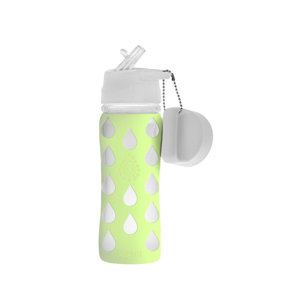 Avanti Silicone Borosilicate Glass Drink Bottle 700ml - Green