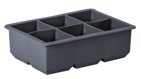 Avanti Silicone 6 Cup King Ice Cube Tray - Charcoal