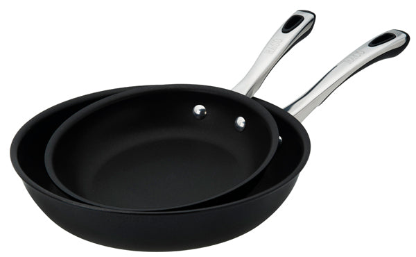 RACO Contemporary 20/26cm Open French Skillet Twin Pack - Black