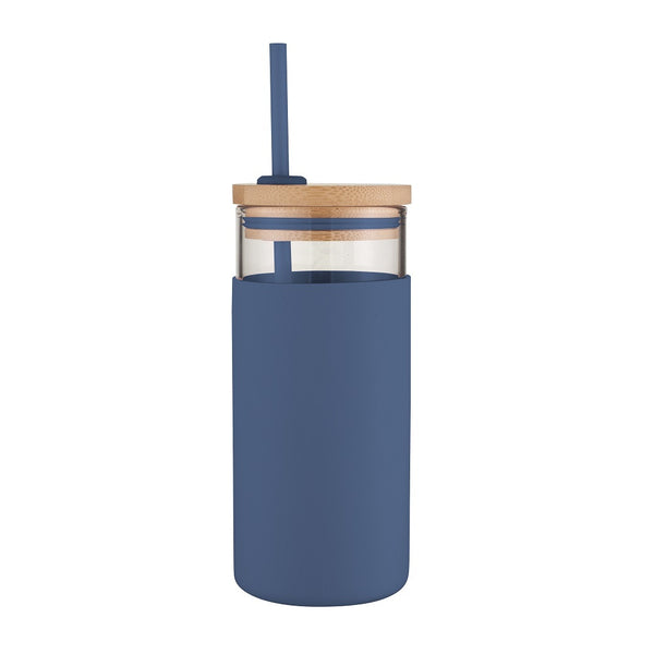 Avanti Glass Smoothie Tumbler 580ml - Navy