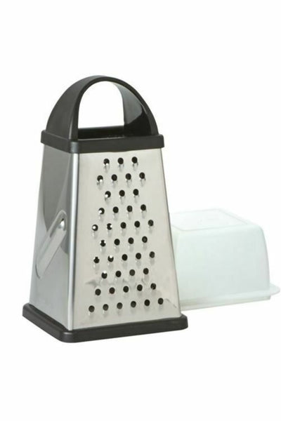 Avanti Box Grater Stainless Steel - 4 Sided - With Storage Container