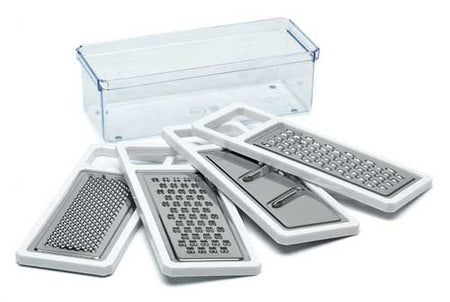 Avanti Multi Boxed Grater With 4 Stainless Steel Blades And Storage Container