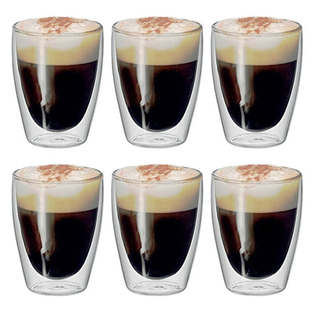 Avanti Cafe Double Wall Glasses Set of 6 - 250ml
