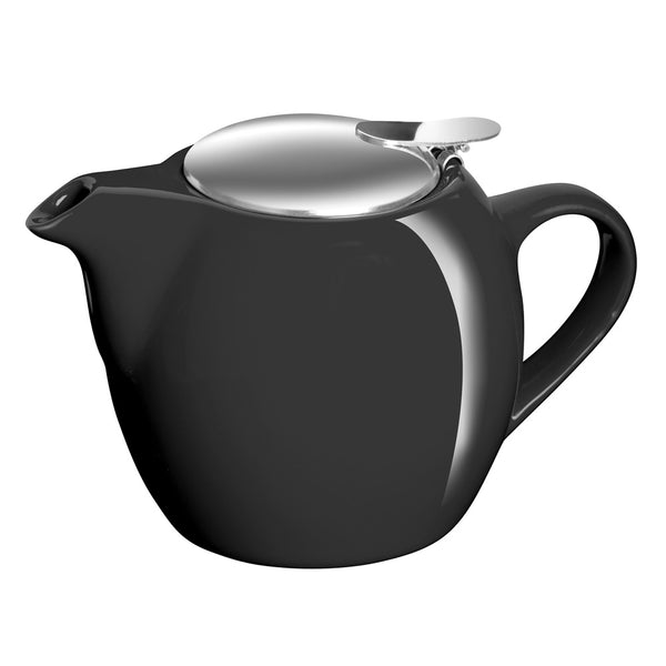 Avanti Camelia Ceramic Black Teapot - 750ml