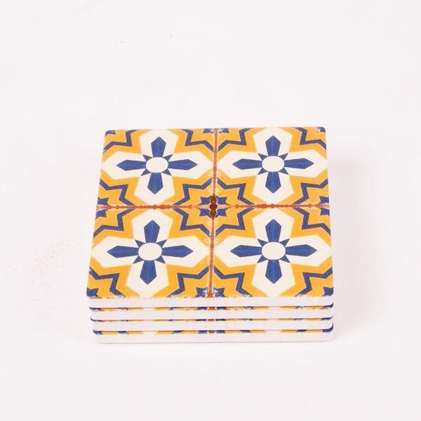 Ceramic Coasters Square 10x10cm - Pack of 4