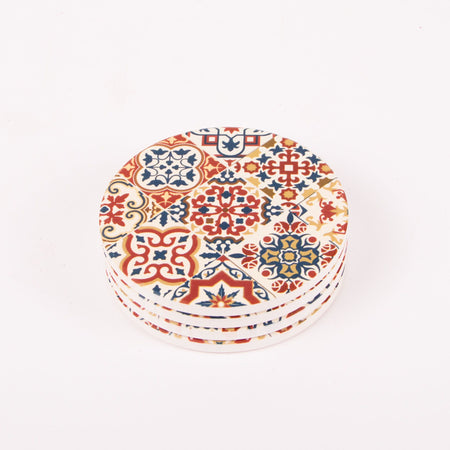 Ceramic Coasters Round 10.3cm - Pack of 4