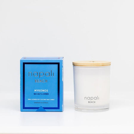 Napali Beach Mykonos, Sea Salt & Amber Candle - Small