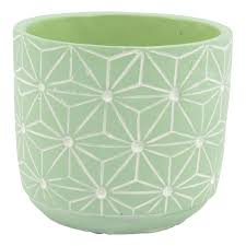 Zuni Concrete Pot Green 7.5X7cm