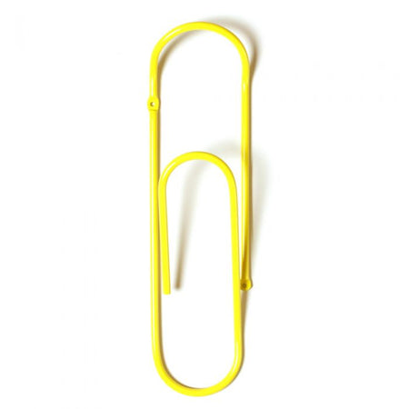 Bendo Paper Clip - Coat Hook - Yellow