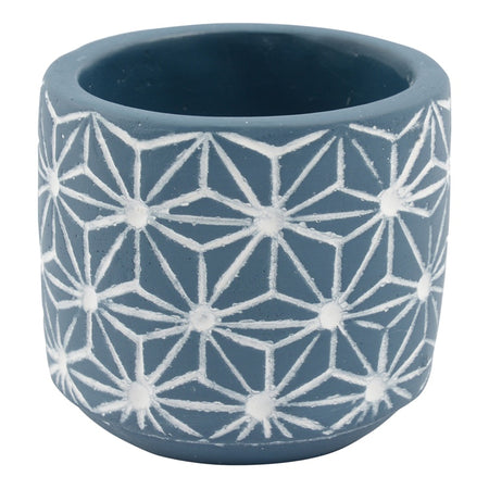 Zuni Concrete Pot Blue 7.5X7cm