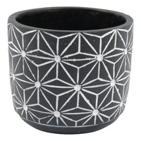 Zuni Concrete Pot Black 15X13cm