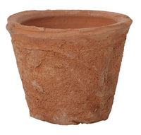 Antiqued Redstone Terracotta Squat 6.5cm