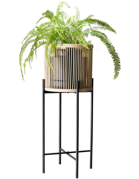 Salt & Pepper Rhythm Plant Stand Natural