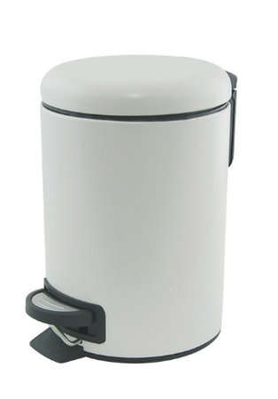 Salt & Pepper Suds 3L White Pedal Push Bin
