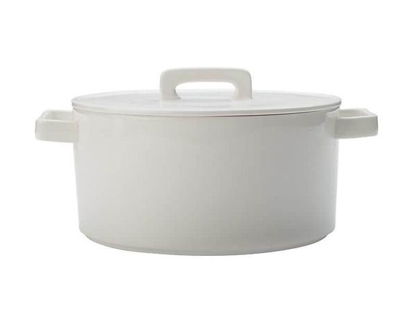 Maxwell & Williams Epicurious Round Casserole 2.6L - White