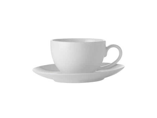 Maxwell & Williams White Basics Coupe Demi Cup & Saucer 100ML