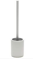Salt & Pepper Manhattan Toilet Brush & Holder - Frost