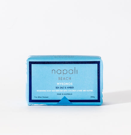 Napali Beach Mykonos, Sea Salt & Amber Soap
