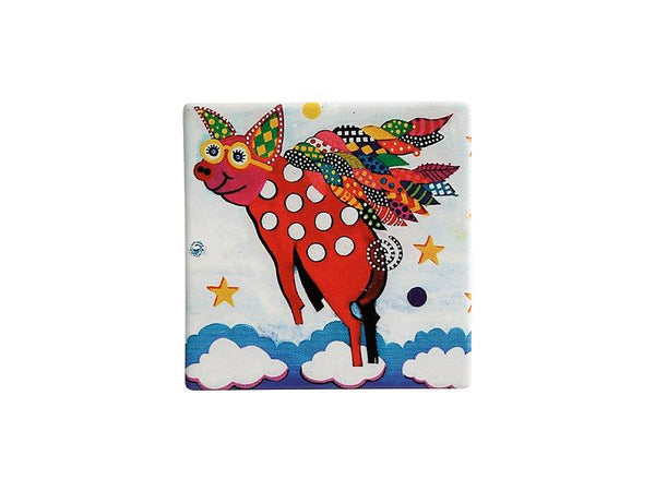 Maxwell & Williams Smile Style Ceramic Tile Coaster Pigasus 9cm